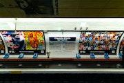 Affiches 4 et 1 Expo Métro Paris 2020 Chaussée d'Antin La Fayette.