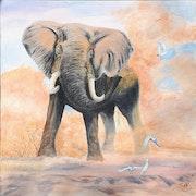 L'éléphant aux oiseaux.