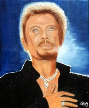Johnny Hallyday Sur son Coeur.