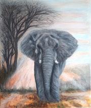 Un Éléphant à l'aube..