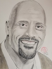 Dwayne Johnson. Art By Matei