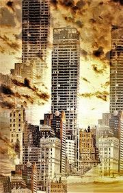 La ville dans les nuages.