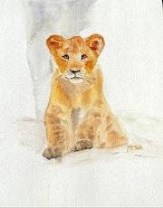 Aquarelle le lionceau. Yokozaza