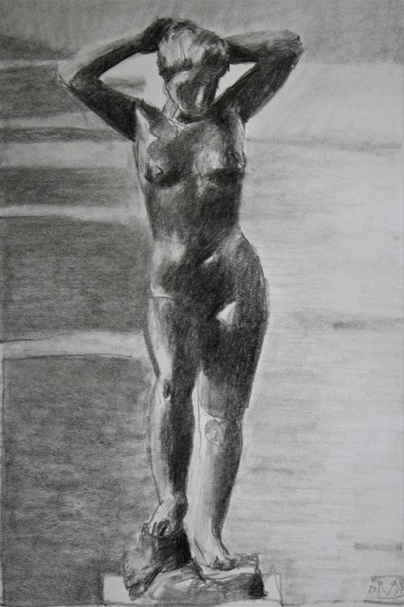 Étude d'une statue de Maillol «Baigneuse».  Gérard Valluet