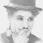 Portrait Chatlie Chaplin. Baloban Nadège