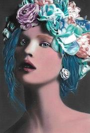 Nina - tableau pastel sec femme moderne.