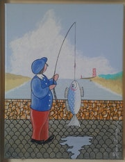 Pêcheur de etel. Dasnoy Herve
