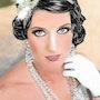 Tina - tableau pastel sec portrait femme romantique. Diva Divine