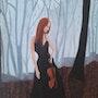 Peinture a l'huile sur toile intitulée » clair de lune ».