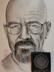 Bryan Cranston Portrait. Art By Matei