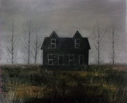 Black house. Oil in canvas..
