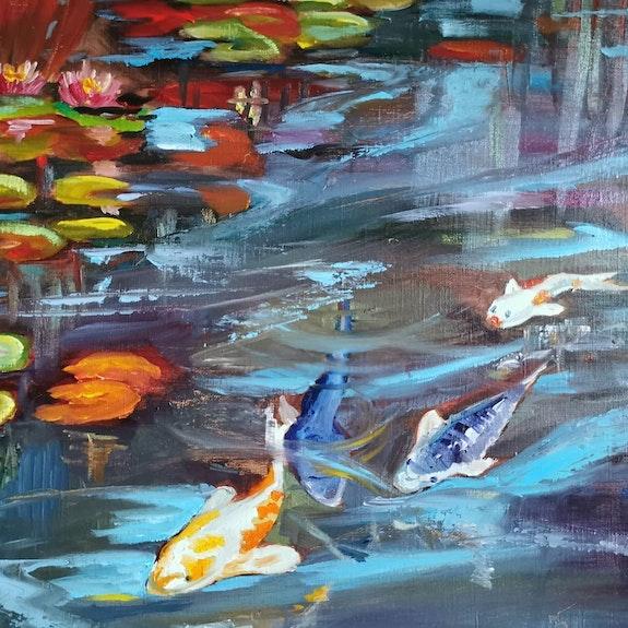 The Koi carp pond. Catherine Maury Catherine Maury