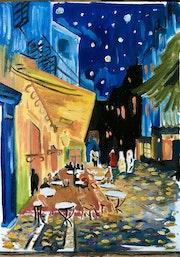 Inspiré de café la nuit de van Gogh. Eleonore Bntr