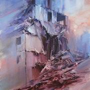 Destruction Site in Blue and Pink. Viksh