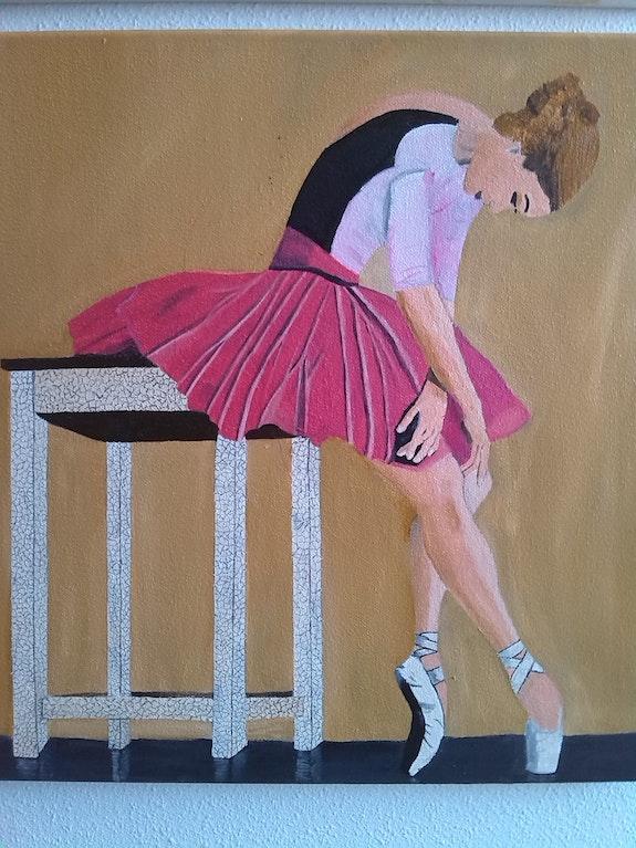 Peinture a l'huile sur toile de 40 X 40 cm intitulée» le petit rat ». Lucien Prost Prost's Art