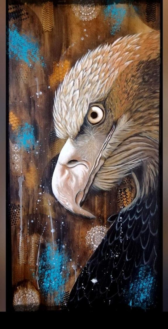 Aigle au regard perçant. Martine Moricet Martine Moricet