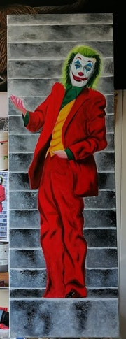 Le joker, d'après le film du même nom avec Joaquin Phoenix.