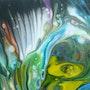 Détail 2 de Pich'magic abstract art 104. Pich