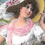 Constance - tableau portrait femme bohème romantique. Diva Divine