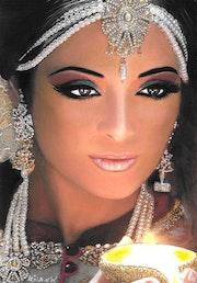 Leïla - tableau pastel sec portrait femme ethnique orientale.