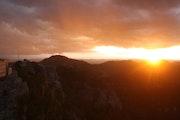 Atardecer en la sierra de Durango. Leon Xlll