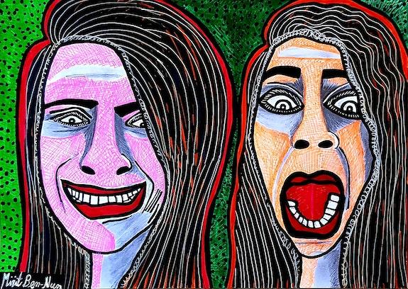 Mirit Ben-Nun Israeli painter artist modern art paintings and drawings. Mirit Ben-Nun Mirit Ben-Nun