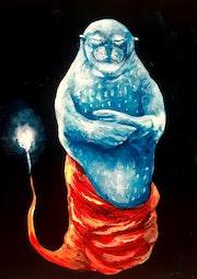 Phoque Moine Bouddhiste ayant atteint l'Illumination.