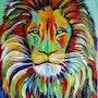 «Lion» retrato abstracto cabeza de León.