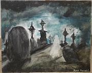 Le fantôme du cimetière. Julie Bourdais