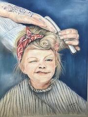 Chez le coiffeur. Chantal Gilbert