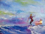 La surfeuse.