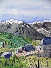 Un village de montagne.