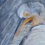 Oiseau blanc. Brigitte Boulic-Wanneau-Bwb-Briwa