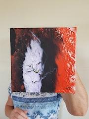 Tableau acrylique abstrait (201) (2020) 20 cm X 20 cm.