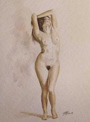 Pose feminine nu. Jean Michel Marand