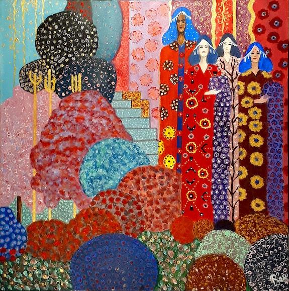 Quatre Couleurs Quatre Femmes. Pedro Bujeque Rey Rey