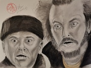 Home Alone - Joe Pesci and Daniel Stern. Art By Matei