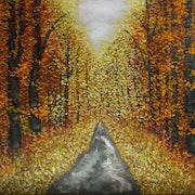 Bosque dorado. Oleo sobre lienzo.. Demonio - Yolanda Molina Brañas