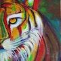 «Tigre entre las sombras». A. De Francisco
