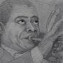 Portrait Louis Armstrong. Baloban Nadège