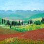 La campagne toscane au printemps. Pich