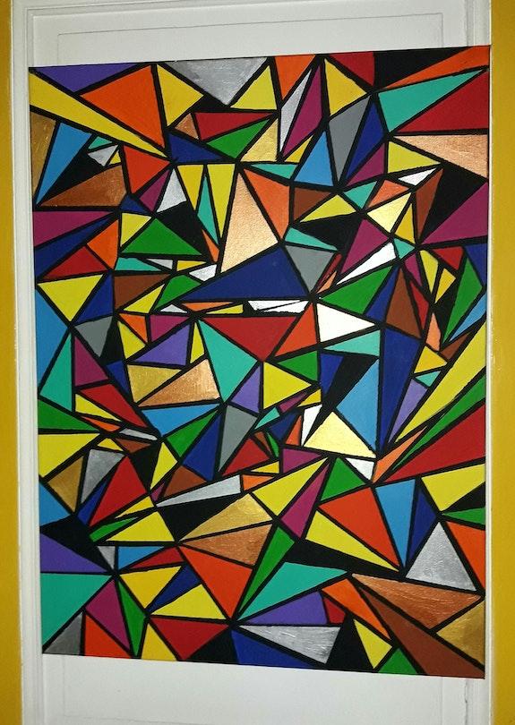 Les triangles jonglent avec mes couleurs. Luc Terrail Luc Terrail