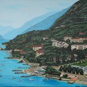 Magnifique Garda et montagnes. Alena Drisner