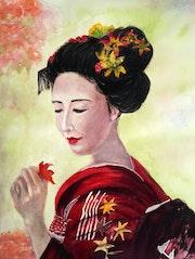 Jeune femme Japonaise.