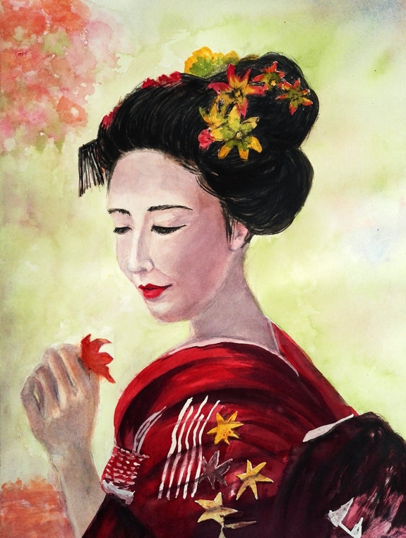Jeune femme Japonaise. Michèle Truchot Mimi