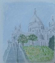 Aquarelle originale de Montmartre 2 - signée de l'artiste.