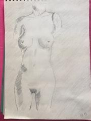 Nue. Michel Barbaud