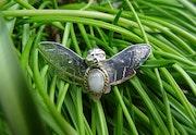 Pendentif «Papillon Sphinx tête de mort». Christine Richard