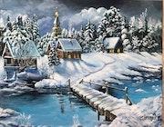 Zima un soir d'hiver.