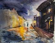 Une rue, la nuit.. Patricia Palenzuela Kroockmann